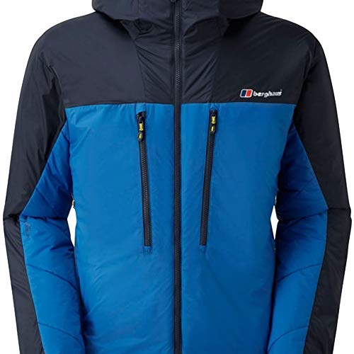 Berghaus Herren Extrem 7000Belay Parka Jacke Medium Snorkel Blue/Dusk