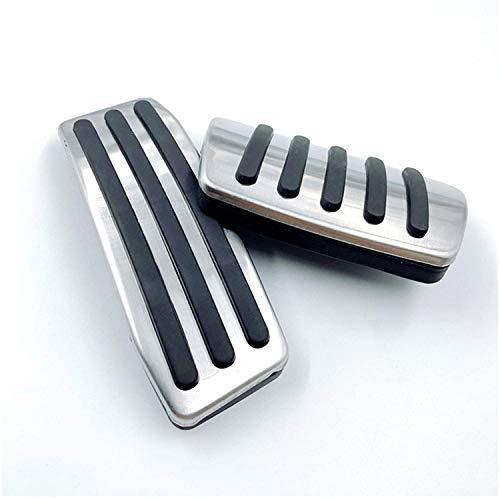 ZWWZ Cubrepedales para AutomóVil, Compatible para Ca-dillac SRX 2008-2016 Coche Manual Y AutomáTico Acero Inoxidable Antideslizante Accessories