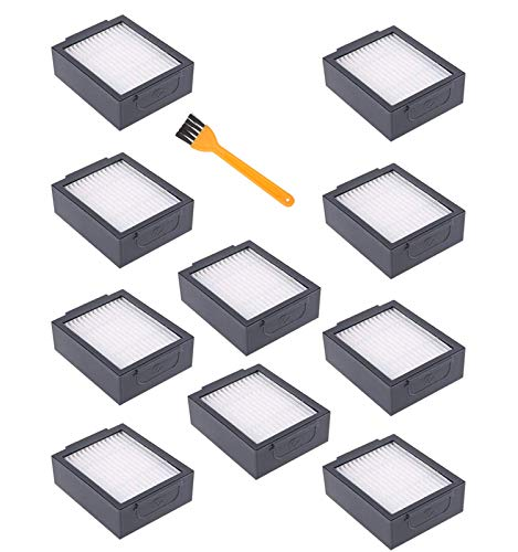 Dhoua 3 Pack eplacement Parts Roller Brushes Compatible for iRobot Roomba i3 i3+ i6+ i7 i7+ E5 E6 E7 Vacuum Cleaner Accessories i Series Replenishment Kit - 3 Set (10 Pack Filters)