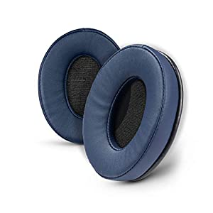 Brainwavz ProStock ATH M50X Upgraded Earpads, Improves Comfort & Style Without Changing The Sound - Ear Pad Designed for ATH-M50X M50BTX M20X M30X M40X Headphones, Vegan Leather (Dark Blue)