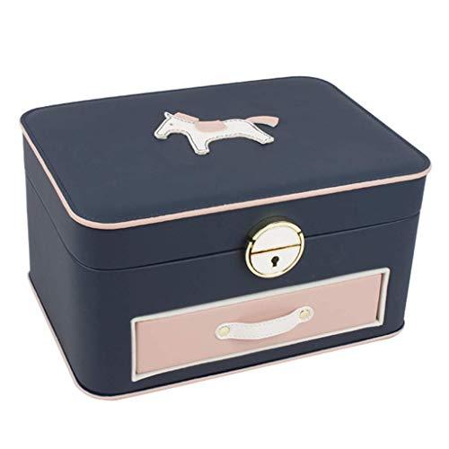 Giow Pu schmuckschatulle Pony Dekoration niedlich abschließbare Stud aufbewahrungsbox gewidmet der Liebe schönheit