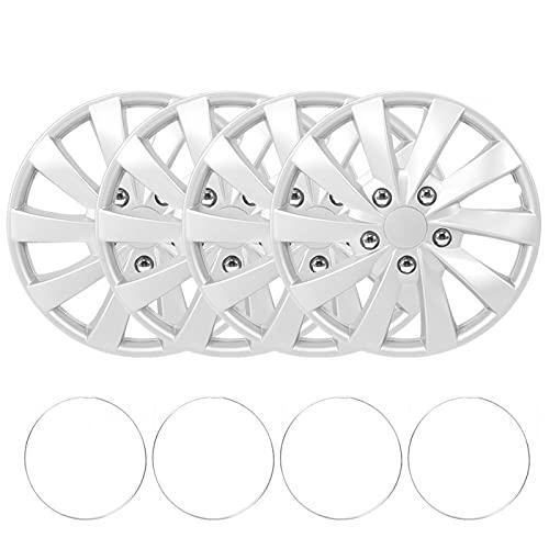 Socobeta Cubiertas de rueda Snap‑On 4pcs/Set para decoración de rueda para modificación de vehículos (tipo A)