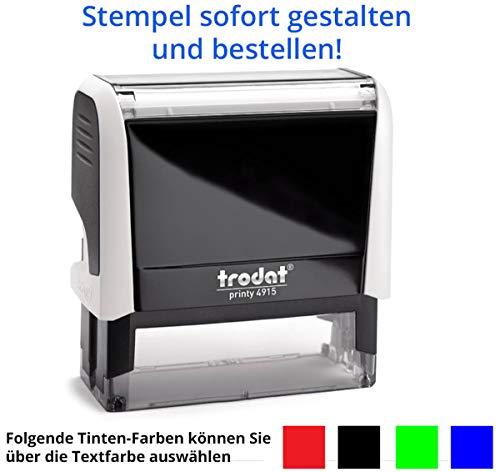 Trodat Printy 4915 - Sello (70 x 25 mm, 5 líneas), color bl