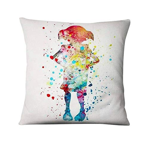 WSNDD Anime Snape Watercolor Illustration Printed Pillowcase Thin Linen Cushion Decorative Pillow Home Decor Sofa Throw Pillow,7,45x45cm
