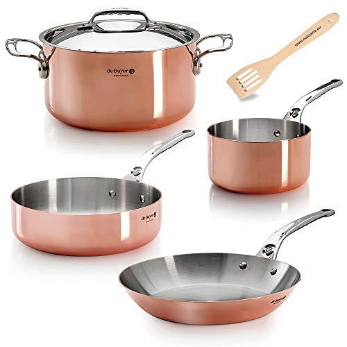 de Buyer Prima Matera Inocuivre Induction - Batería de cocina de cobre (5 piezas)