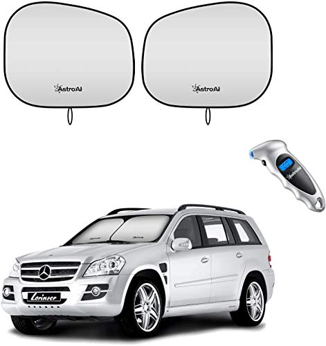 AstroAI Digital Tire Pressure Gauge and Windshield Sun Shade - Foldable 2-Piece 28 x 30.7 inches Bundle Sold