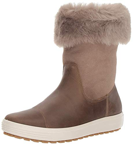 ECCO Damen Soft 7 TRED Boot Hohe Stiefel High-cut Boot, Braun (Navajo Brown/ Moon Rock 57511), 43 EU