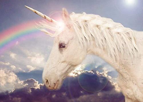 Papermoon Unicorn Rainbow Vlies Fotobehang 200x149cm 4-Banen