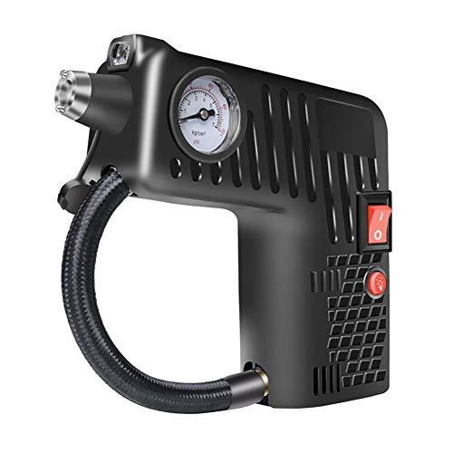 FeiyanfyQ Inflador De Neumáticos De Coche con Manómetro Digital, Medidor De Presión De Neumáticos De Coche Bomba De Inflado De Aire para Coche, Motocicleta, BicicletaJuguetes Inflables Negro