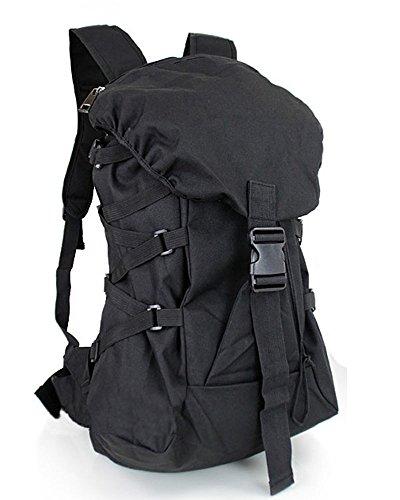 アルファインダストリーズ 防水 リュック リュックサック メンズ バックパック アウトドア 軽量 大容量 遠足 登山 PCバッグ (F, ブラック)
