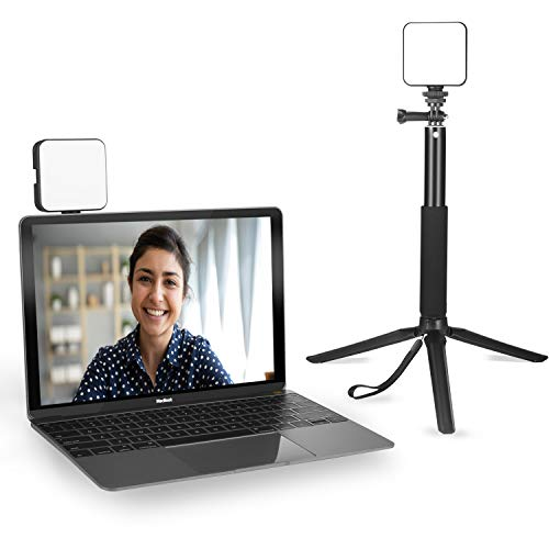 Luce per videoconferenze | Kit di illuminazione per videoconferenza con treppiede | Cube Laptop Computer Webcam Light per Self Broadcast - Zoom Call Meeting - Microsoft Teams - Live Streaming