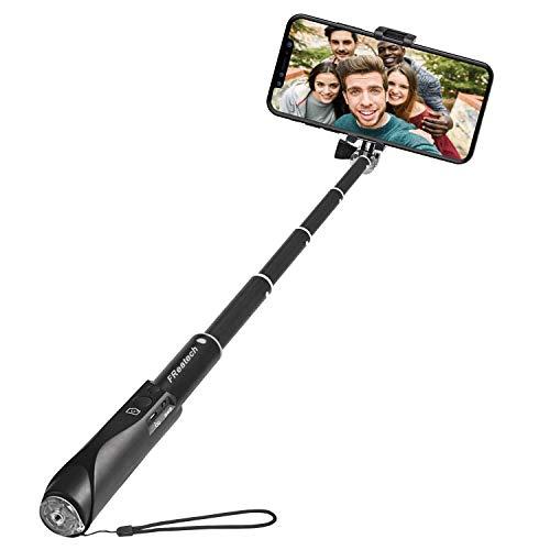 FREATECH Palo Selfie Bluetooth, Selfie Stick Monopod Extensible con Obturador Inalámbrico Bluetooth Incorporado para iPhone X/8/7/6s/6 Plus, Galaxy S8/S8 Plus/Note 8 y Otros Smartphones iOS, Android