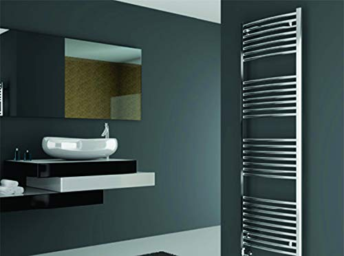 Learn More About Cordivari Lisa 22 Chromed Hydronic Towel Warmer Curved 20''x48'' w/Valve kit