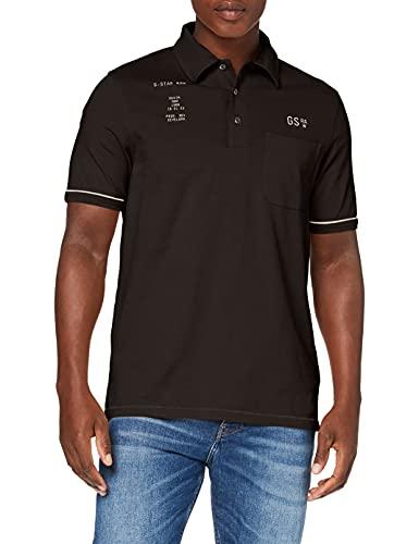 G-STAR RAW Mens D19852 Polo Shirt, Raven C784-976, L