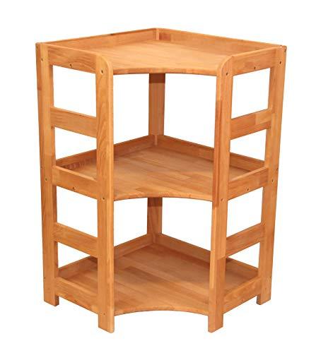 Praktisches Regal Beethoven, 90x56x56cm, Echtholz Buche geölt, für Wohnzimmer, Büro oder Kinderzimmer, echtes Holz