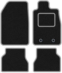 Rmsone GENUINE FULLY TAILORED BLACK CARPET CAR MATS QASHQAI 2014-2018  GREY TRIM