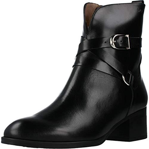Wonders Damen Stiefelleten Boots G5120 Schwarz 36 EU