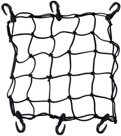 syiniix Bicycle Cargo Net Black Bungee Cord Net for Bike Rear Rack Cargo Net with 6 Hooks product image