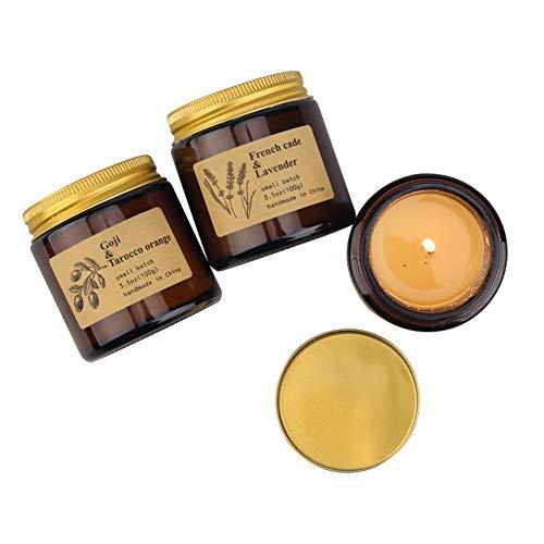 CHAN Kerzen Bath and Body Works, Kerze Set, Soja-Kerzen, Natur Kerze Geschenk, Stress Relief Und Aromatherapie -3-Pack