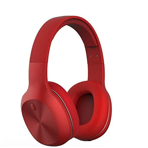 KJCHEN Auriculares Portátil Pequeña Limpieza inalámbrica Reducción de Ruido Bluetooth 5.0 Computadora Auriculares de bajo Pesado (Color : Red)