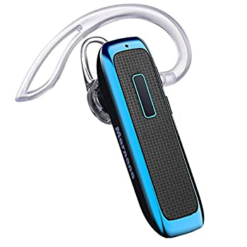 Bluetooth Headset Wireless Bluetooth Earpiece w/ 18 Hours Playtime and Noise Cancelling Mic,Ultralight Earbud Headphone Hands-Free Calls for iPhone Tablet Samsung Android Cell Phone Truck Driver