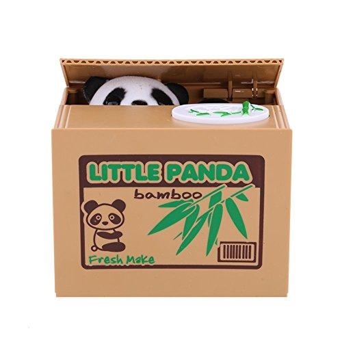 Hucha de Panda, Hucha Automática con Sonido, Hucha Divertida de Panda que Roba Dinero, Juguete de niños, Regalo Original