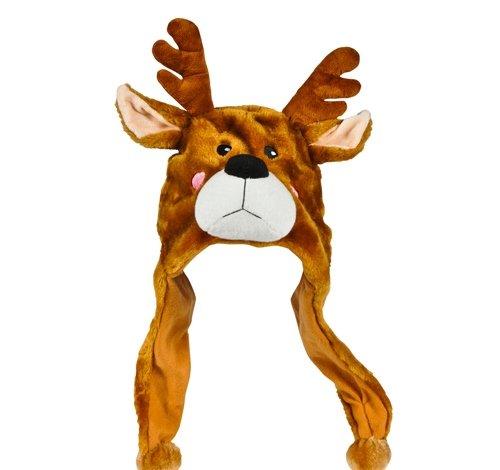 Best Price DollarItemDirect 17.5 inches Plush Reindeer Hat, Case of 24
