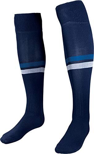 HS S13 Energy, Calzettoni Calcio Unisex Bimbi, Bianco/Blu Navy/Blu Royal, 1