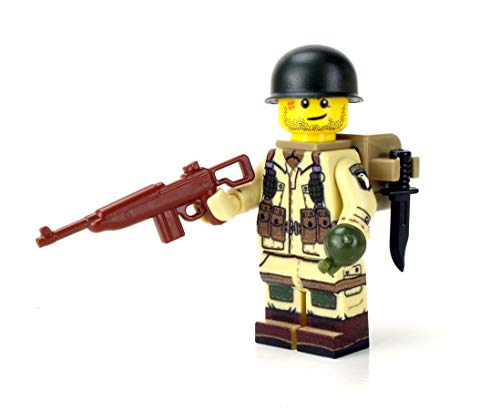US Army WW2 101st Airborne Paratrooper Battle Brick Custom Minifigure