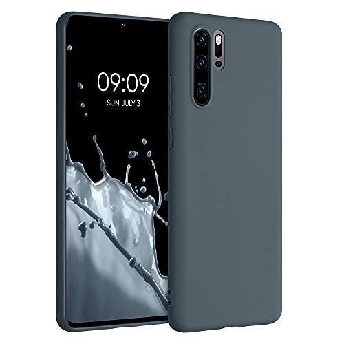 kwmobile Carcasa Compatible con Huawei P30 Pro - Funda móvil de Silicona - Protector de TPU en Gris Pizarra