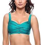 Merry Style Sujetador de Bikini Parte de Arriba Bañador Top Deportivo Mujer P754S (Verde Brillo, EU 75 H = ES 90 H)
