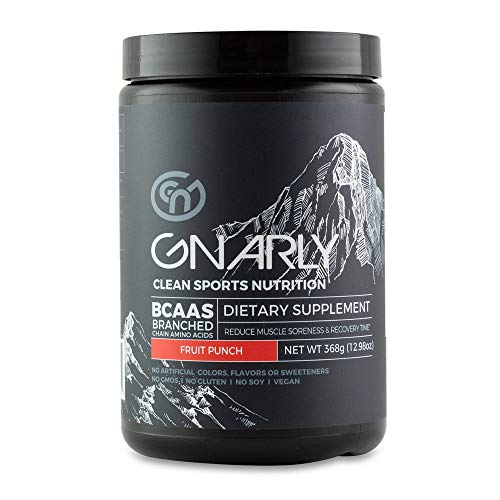 Gnarly Nutrition, BCAA Pre and Post Workout Supplement to Reduce Muscle Soreness, Caffeinated, Fruit Punch (30 Servings)