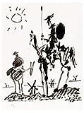 Sunsightly Don Quijote De Pablo Picasso, Arte De Pared Minimalista, Lienzo, Póster, Impresión En Lienzo, Cuadro De Pintura para Dormitorio, Decoración del Hogar, Sin Marco