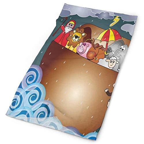 Magic Headwear Outdoor Scarf Headbands Bandana,The Ark In Ocean Under Dark Rain Storm Clouds And Waves Old Legendary Stories,Mask Neck Gaiter Head Wrap Mask Sweatband