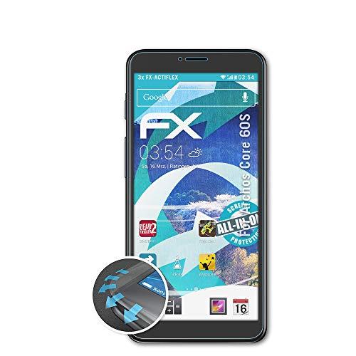 atFolix Schutzfolie kompatibel mit Archos Core 60S Folie, ultraklare & Flexible FX Bildschirmschutzfolie (3X)