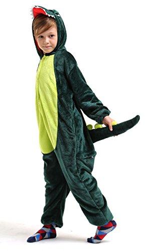 Costume Tutina Peluche di Dinosauro/Drago per Bambini- Verde- Taglia 125