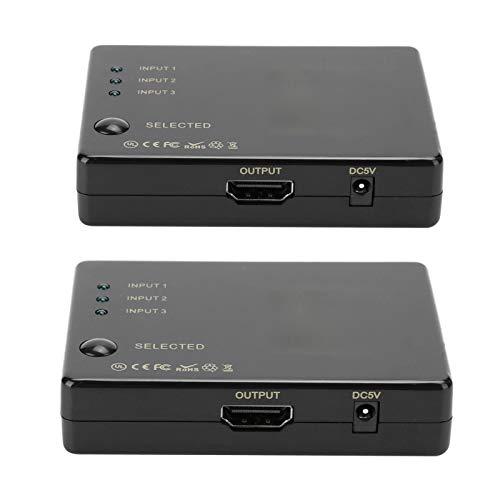 Cuifati Interruptor, Divisor de 3 Puertos de Entrada 1 Salida 3, Interruptor de Salida 3 en 1, Buena compatibilidad,