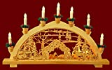 yanka-style Schwibbogen Lichterbogen Wildfütterung 10flammig innenbeleuchtet Weihnachten Advent Geschenk Dekoration (10787)