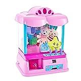 IW.HLMF Candy Grabber Kids Electric Claw Party Arcade Machine | Réplica Tradicional de Juegos de Feria, con Cable USB, Monedas, Luces Intermitentes y Sonidos Musicales como Regalo