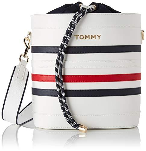 Tommy Hilfiger Damen Item Staple Bucket Henkeltasche Mehrfarbig (Corporate)