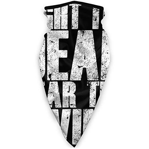 "BUGKHD Kopfbedeckung mit Schriftzug ""Walking Dead Fight The Dead Fear The Living"", Weiß"