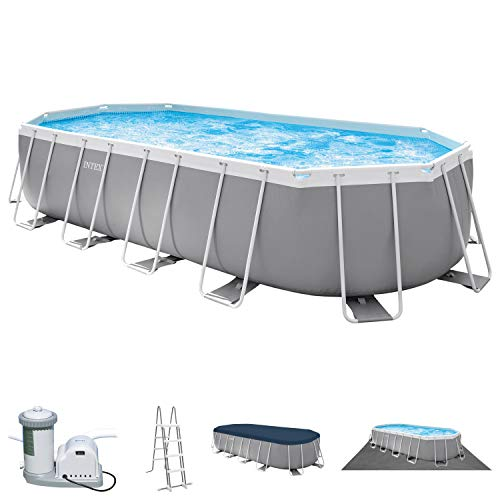 Intex Swimming Pool 610 x 305 x 122 cm Frame Pool Set Prism Oval 26798