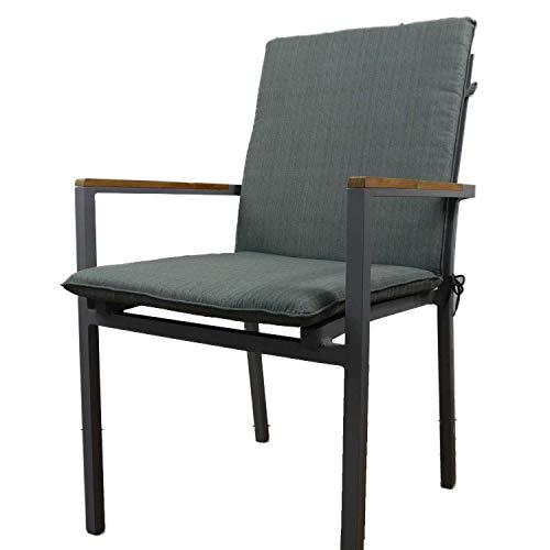 Nordje Gartenmöbel-Auflage Basic für Niederlehner mit dem Maß 100x49x5cm (HöhexBreitexStärke) | Sitzkissen Outdoor | Polsterauflage für Gartenmöbel (Grau)