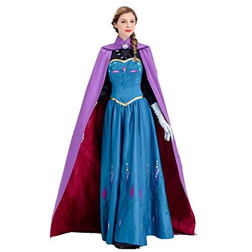 NNW volwassen cosplay kostuums prinses jurk lange sectie band mantel cosplay film schieten kleding kostuums, S