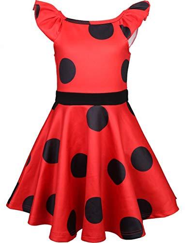 Miscoloor Ladybug Marienkäfer Hüfthalter mit Päckchen Party Cosplay Kostüm Kind und Erwachsener verfügbar