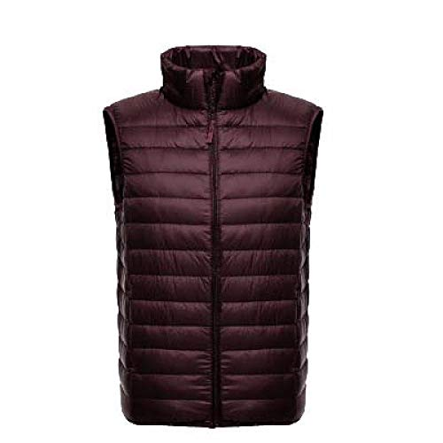 BAONUANY Gilet Mensen, Bordeaux Mannen Mouwloos Jas Winter Ultralight Witte Eend Down Vest Mannelijke Slim Vest Mens Winddicht Warm Waistcoat