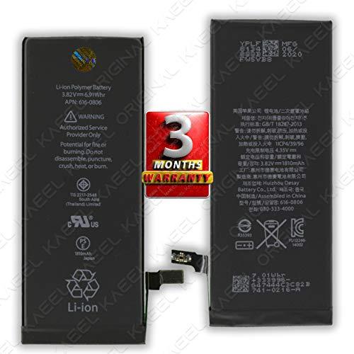 KAEEL ORIGINAL OriginaI 1810mAh Li-ion Battery 3.82V 6.91Whr for Apple iPhone 6 A1549 A1586 A1589 90 Days Warranty. (Silver)