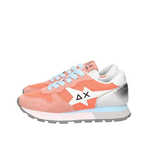 SUN68 Sneakers Donna, Running Adult Ally Star Basic. 38, Corallo