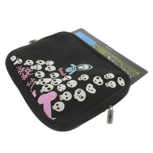 foto-kontor XirriX Tasche für Samsung Galaxy NotePRO Neopren Schutz Hülle Hülle Skull Totenkopf