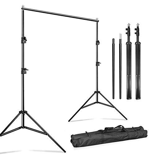 Julius Studio 10 Feet Wide Photography Photo Muslin Background Support Stand Backdrop Crossbar Kit, Backdrop Support Stand with Carry Bag, JSAG576